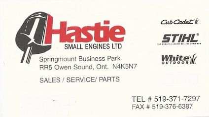 HASTIE SMALL ENGINES