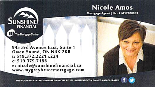 Nicole Amos with Sunshine Financial Mortgage Centre